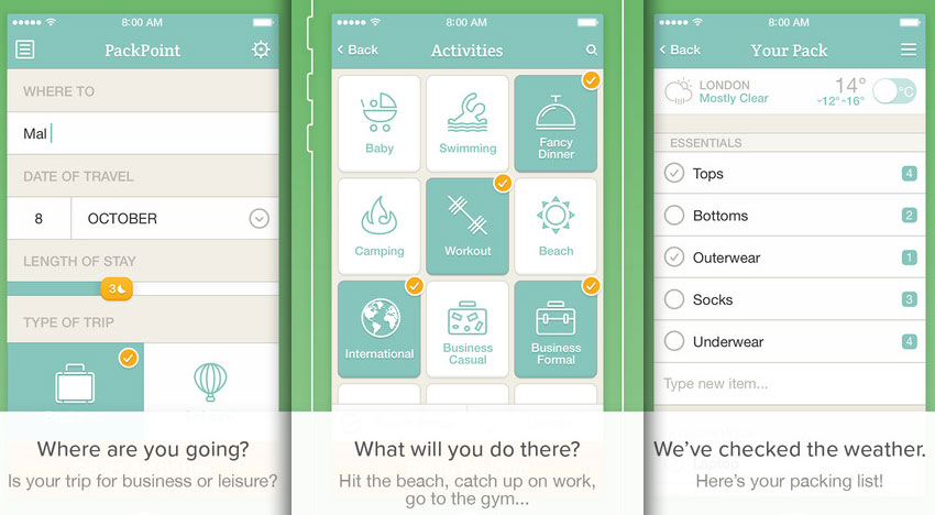 PackPoint-packing-list-travel-companion-iOS