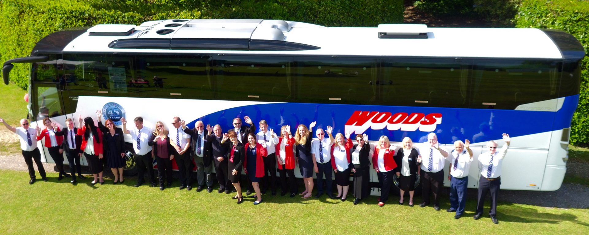 Woods Travel 45 Year Event Staff Picture