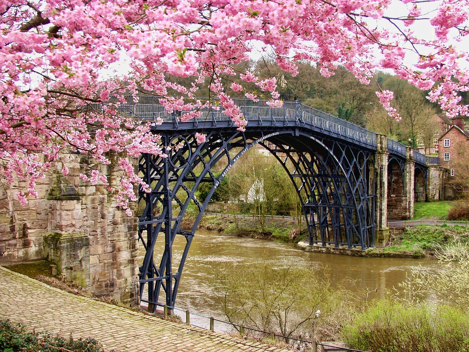 IRONBRIDGE IN SPRING - PIXABAY